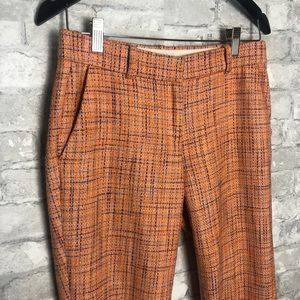 Orange J. Crew Cafè Capri Trouser Dress Pants
